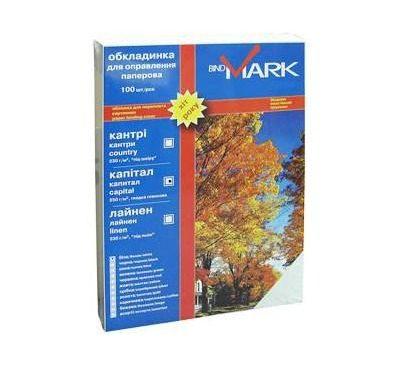 Обложка для переплета bindMARK карт. Кантри А4 230 г/м2 (100 шт.) белая (41701)