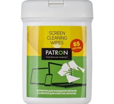 Салфетки PATRON для TFT/LCD/LED/Plasma 65шт (F4-004)