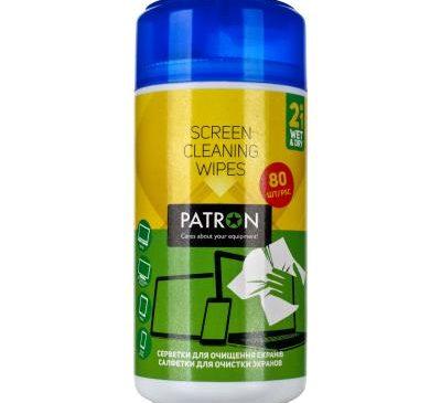 Салфетки PATRON для TFT/LCD/LED/Plasma 80шт (F4-007)